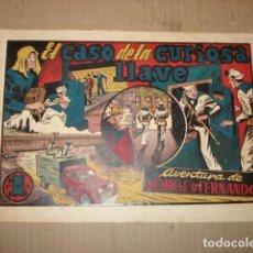 Tebeos: JORGE Y FERNANDO 48: EL CASO DE LA CURIOSA LLAVE, 1943, HISPANO AMERICANA, BUEN ESTADO. Lote 252604730
