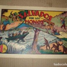 Tebeos: JORGE Y FERNANDO 33: SALVADOS POR LOS MONOS, 1943, HISPANO AMERICANA, BUEN ESTADO. Lote 252607210