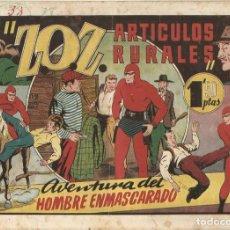 Tebeos: EL HOMBRE ENMASCARADO ZOZ ARTICULOS RURALES Nº 38 ORIGINAL ED HISPANO AMERICANA. Lote 253912530