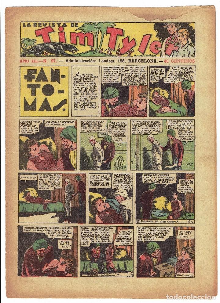 TIM TYLER Nº 97 - HISPANO AMERICANA JUNIO 1938 (Tebeos y Comics - Hispano Americana - Tim Tyler)
