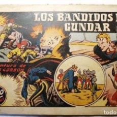 """Tebeos: LAS GRANDES AVENTURAS, HISPANO AMERICANA 1946, NÚMERO 19 """"LOS BANDIDOS DE GUNDAR"""". Lote 254574095"""