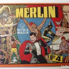 Tebeos: MERLIN EL MAGO, EDITORIAL HISPANO AMERICANA 1942 ALBÚM ROJO NÚMERO 4. Lote 254683035