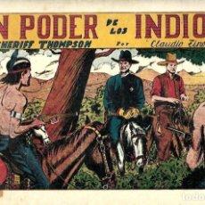 Tebeos: EL SHERIFF THOMPSON, EN PODER DE LOS INDIOS DE HISPANO AMERICANA ED. - ORIGINAL AÑOS 40-. Lote 254975040