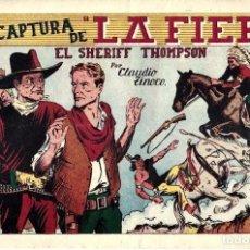 Tebeos: EL SHERIFF THOMPSON,LA CAPTURA DE LA FIERA DE HISPANO AMERICANA ED. - ORIGINAL AÑOS 40- BUEN ESTADO. Lote 254977225
