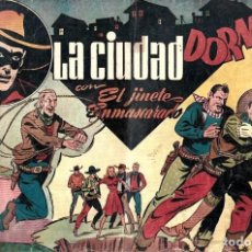 Tebeos: LA CIUDAD DORMIDA CON EL JINETE ENMASCARADO DE HISPANO AMERICANA ED. - ORIGINAL AÑOS 40-. Lote 254984570