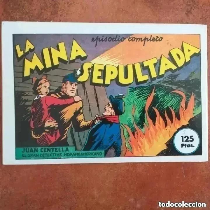 Tebeos: JUAN CENTELLA - LOS VENCEDORES DEL ATLÁNTICO + LA MINA SEPULTADA. NUM 6. REEDICION - Foto 2 - 255422165