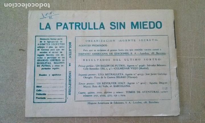 Tebeos: patrulla sin miedo nº 14 -hispano americana -t - Foto 2 - 255522435