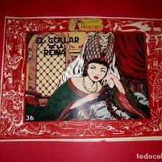 Tebeos: CUENTO EL COLLAR DE LA REINA COLECCIÓN MERCEDES Nº 36 HISPANO AMERICANA 1956. Lote 260379065