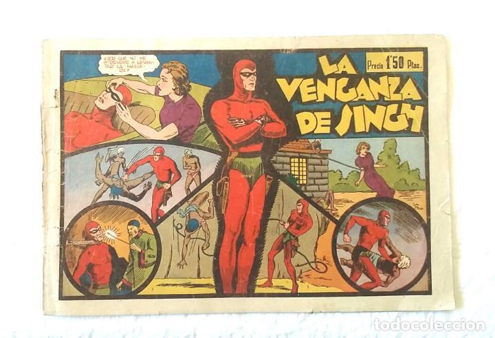 HOMBRE ENMASCARADO Nº 2 LA VENGANZA DE SINGH, HISPANO AMERICANA AÑO 43, ORIGINAL (Tebeos y Comics - Hispano Americana - Hombre Enmascarado)