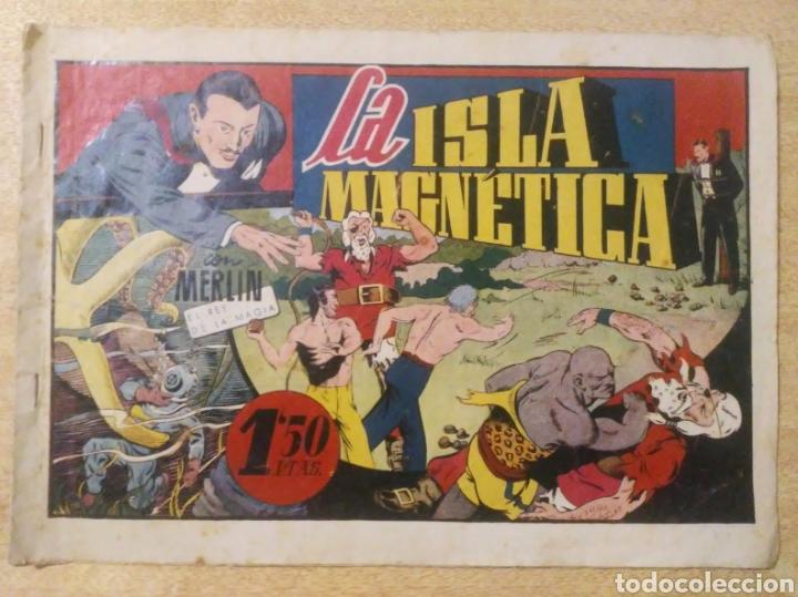 LA ISLA MAGNÉTICA CON MERLIN EL REY DE LA MAGIA ORIGINAL ED. HISPANOAMERICANA (Tebeos y Comics - Hispano Americana - Merlín)