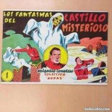Tebeos: JUAN CENTELLA - LOS FANTASMAS DEL CASTILLO MISTERIOSO + EL TUNEL MALDITO. REEDICION. Lote 262580585