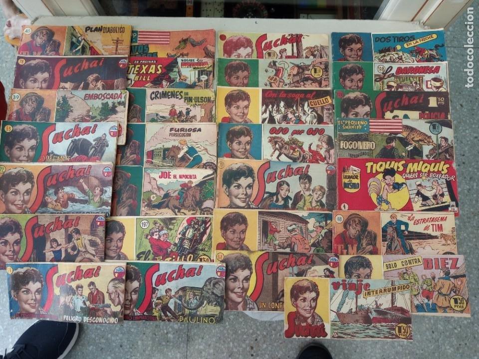 LOTE DE 30 COMICS EDITORIAL HISPANO AMERICANA AÑOS 50: SUCHAI,TIM EL PEQUEÑO VAGABUNDO,ETC..... (Tebeos y Comics - Hispano Americana - Suchai)