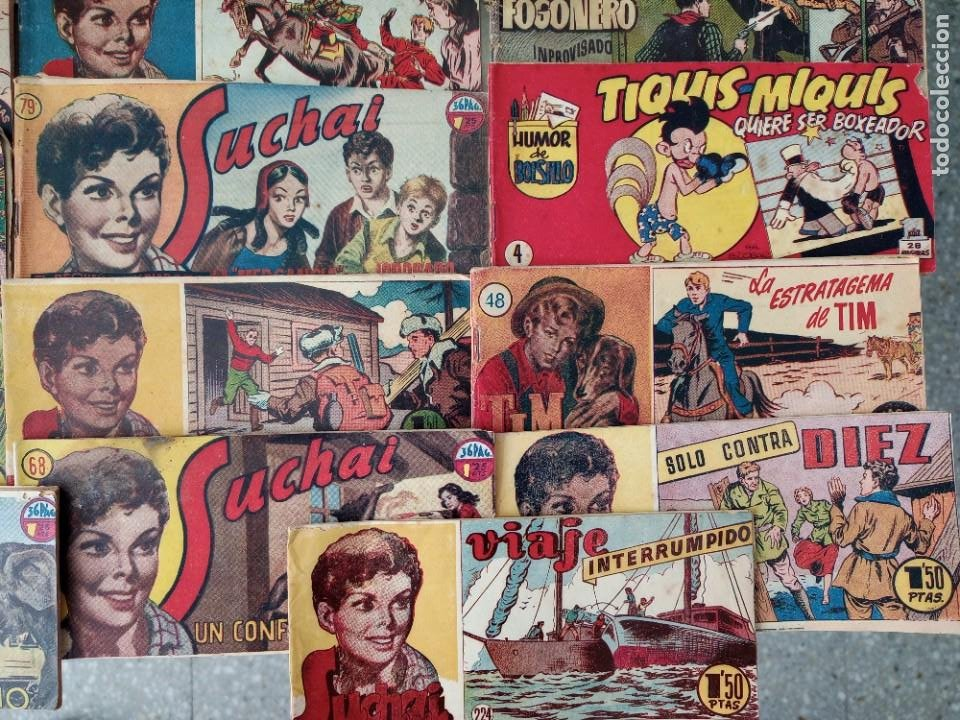 Tebeos: Lote de 30 comics editorial hispano americana años 50: Suchai,Tim el pequeño vagabundo,etc..... - Foto 5 - 262876225