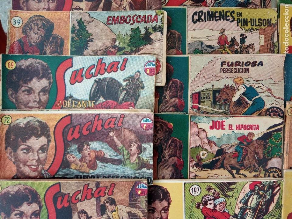 Tebeos: Lote de 30 comics editorial hispano americana años 50: Suchai,Tim el pequeño vagabundo,etc..... - Foto 8 - 262876225