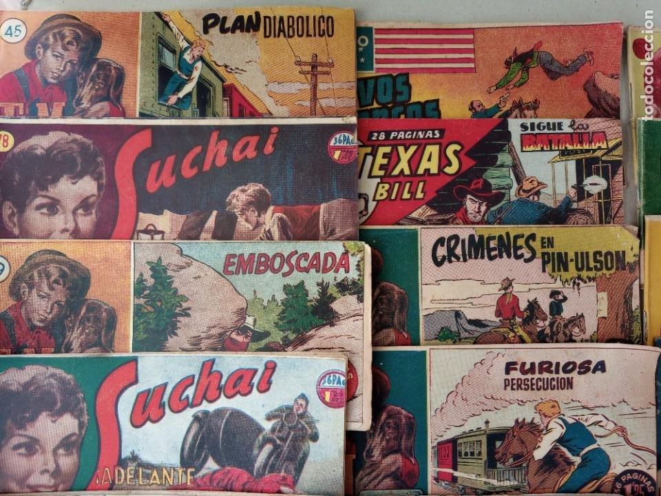 Tebeos: Lote de 30 comics editorial hispano americana años 50: Suchai,Tim el pequeño vagabundo,etc..... - Foto 10 - 262876225