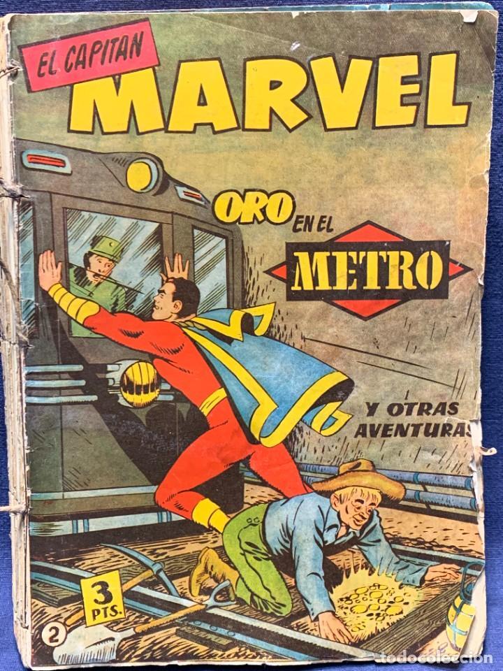 31 NUMEROS VARIOS COMIC EL CAPITAN MARVEL HISPANO AMERICANA COSIDOS BUEN ESTADO 1960 24X17X4CMS (Tebeos y Comics - Hispano Americana - Capitán Marvel)