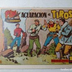 Tebeos: ORIGINAL NO COPIA PIN EL TROTAMUNDOS ACLARACIÓN A TIROS NÚMERO 56 AÑOS 50 60. Lote 263906115