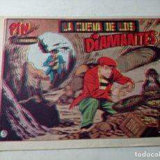 Tebeos: ORIGINAL NO COPIA PIN EL TROTAMUNDOS LA CUEVA DE LOS DIAMANTES NÚMERO 9 AÑOS 50 60. Lote 263908210