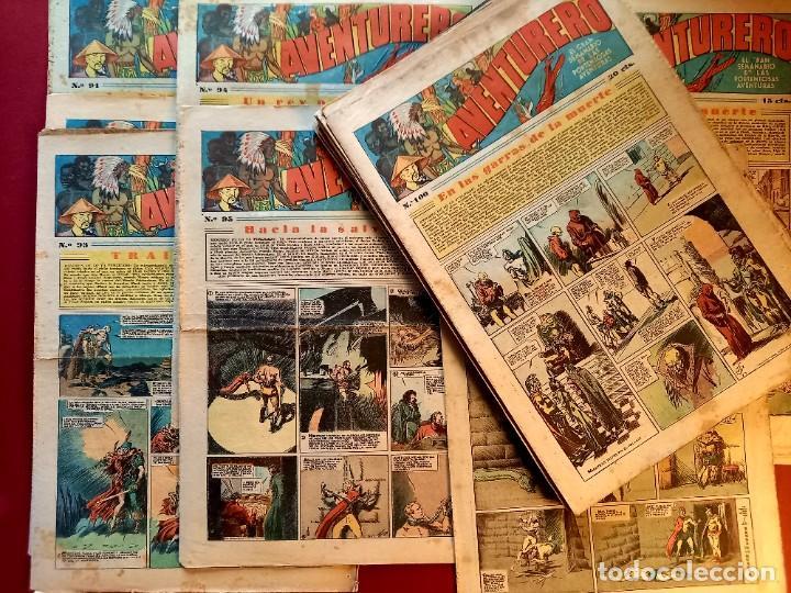 LOTE DE 25 AVENTURERO DEL Nº 91 AL 115 -HISPANO AMERICANA (Tebeos y Comics - Hispano Americana - Aventurero)