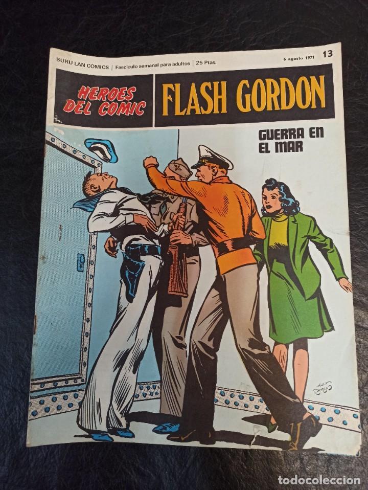 FLASH GORDON. GUERRA EN EL MAR. HÉROES DEL CÓMIC. N°13 AÑO 1971 (Tebeos y Comics - Hispano Americana - Flash Gordon)