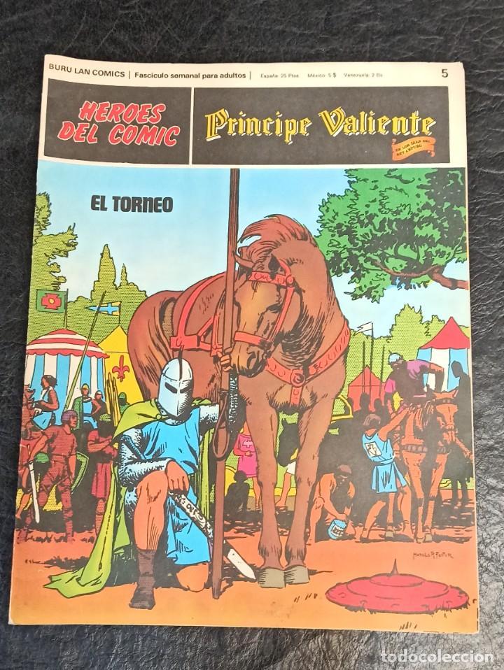 PRÍNCIPE VALIENTE. EL TORNEO. HÉROES DEL CÓMIC. N°5 AÑO 1972 (Tebeos y Comics - Hispano Americana - Flash Gordon)