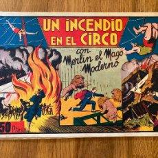 Tebeos: MERLIN EL MAGO MODERNO / UN INCENDIO EN EL CIRCO - 1,50 PTAS - HISPANO AMERICANA - ORIGINAL - GCH. Lote 269202473