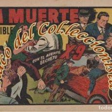 Tebeos: AGENTE SECRETO X 9 GRANDES AVENTURAS ,N. 11 LA MUERTE INVISIBLE, HISPANO AMERICANA, ORIGINAL , 1941. Lote 269381598