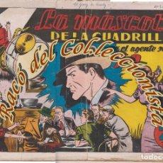 Tebeos: AGENTE SECRETO X 9 ,N. EXTRAORDINARIO, LA MASCOTA DE LA CUADRILLA, HISPANO AMERICANA, ORIGINAL, 1941. Lote 269382273