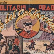 Tebeos: JINETE ENMASCARADO N. 1 EL SOLITARIO DE LA PRADERA , HISPANO AMERICANA, ORIGINAL, 1943. Lote 269385488