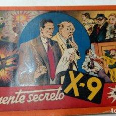 Tebeos: ALBUM ROJO DEL AGENTE SECRETO X9 Nº 1 EL UNICO QUE SALIO ORIGINAL AÑOS 40. Lote 272240998