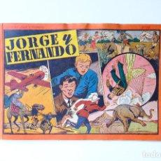 Tebeos: JORGE Y FERNANDO Nº 10. ALBUM CON 4 HISTORIAS. AÑOS 40. HISPANO AMERICANA DE EDICIONES. 31X21 CM. Lote 274870393