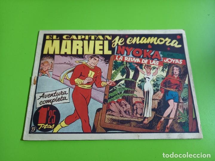 EL CAPITAN MARVEL- Nº 27 ORIGINAL - EJEMPLAR MUY DIFICIL -1ª VEZ EN TODOCOLECCION (Tebeos y Comics - Hispano Americana - Capitán Marvel)
