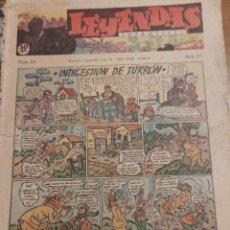 Tebeos: LOTE DE 99 NÚMS. DE LEYENDAS (39 Y 84 A 182). ETAPA HISPANO AMERICANA DE EDICIONES COMPLETA.. Lote 280474223