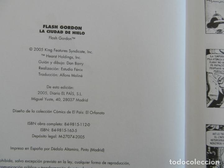 Tebeos: FLASH GORGON , LA CIUDAD DE HIELO - COMICS EL PAIS 2005 TAPAS DURAS - Foto 2 - 281924693