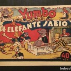 Giornalini: COMIC EDITORIAL HISPANO AMERICANA ORIGINAL YUMBO EL ELEFANTE SABIO. Lote 285138933
