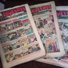 Tebeos: LEYENDAS INFANTILES. AÑO IIII. Nº 89 - 130. 42 EJEMPLARES. HISPANO AMERICANA, 1944. LOTE. Lote 286438918