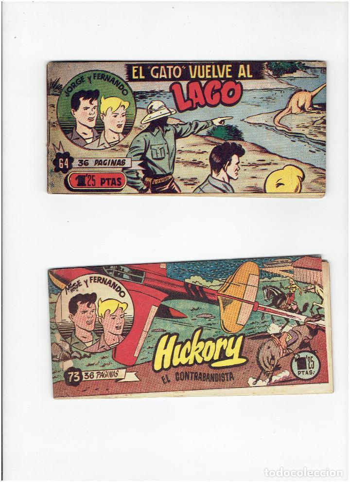 ARCHIVO * JORGE Y FERNANDO EDICION BOLSILLO Nº 64, 73, * EDITORIAL HISPANO AMERICANA 1949 * (Tebeos y Comics - Hispano Americana - Jorge y Fernando)