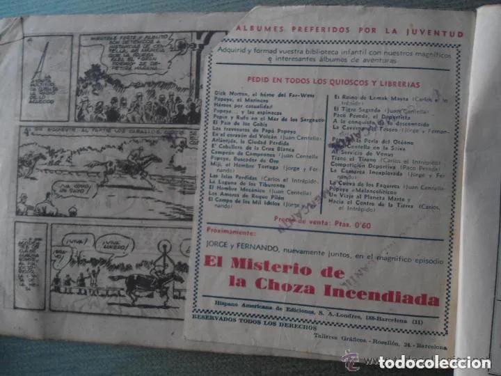 Tebeos: ANTIGUO COMIC TEBEO EL HIPODROMO HECHIZADO - JUAN CENTELLA - Foto 4 - 287263573