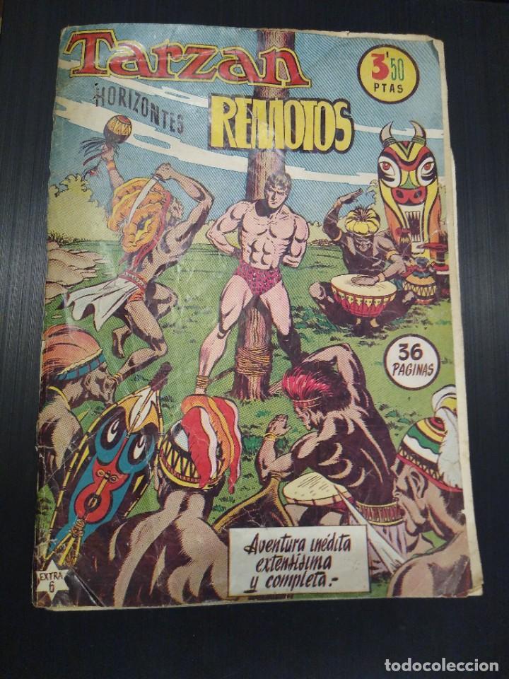 TARZAN HORIZONTES REMOTOS, EXTRA 6, HISPANO AMERICANA, AÑO 1950 (Tebeos y Comics - Hispano Americana - Tarzán)