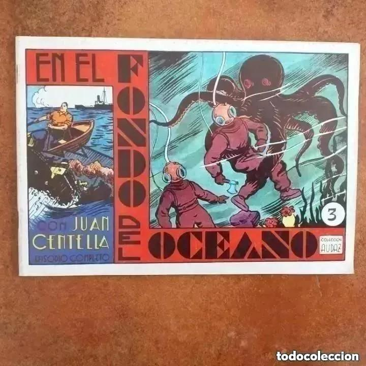JUAN CENTELLA - EN EL FONDO DEL OCÉANO + LA FLECHA ESCARLATA. NUM 3 REEDICION (Tebeos y Comics - Hispano Americana - Juan Centella)