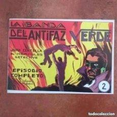 Tebeos: JUAN CENTELLA- LA BANDA DEL ANTIFAZ VERDE + EL BOXEADOR ENMASCARADO. NUM 2 REEDICION. Lote 287734068
