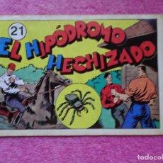 Tebeos: JUAN CENTELLA 21 EL HIPÓDROMO HECHIZADO EDICIONES IBERCOMIC-MAM 1989 LA FÁBRICA SUBTERRÁNEA. Lote 287752608