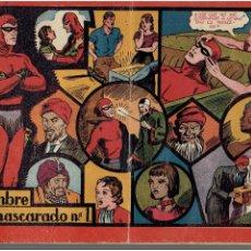 Tebeos: ARCHIVO * EL HOMBRE ENMASCARADO * Nº 1 ALBUM ROJO ORIGINAL * HISPANO AMERICANA 1946 *. Lote 287993478
