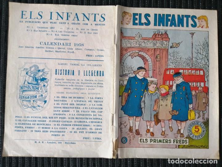 """Tebeos: CÓMIC """"ELS INFANTS"""" ELS PRIMERS FREDS. NÚM. 6. CATALÁN. HISPANO AMERICANA. AÑOS 50 - Foto 3 - 288023388"""