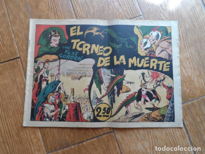 FLAS GORDON Nº 3 EL TORNEO DE LA MUERTE EDITA HISPANO AMERICANA ORIGINAL FLASH GORDON CON CROMOS (Tebeos y Comics - Hispano Americana - Flash Gordon)