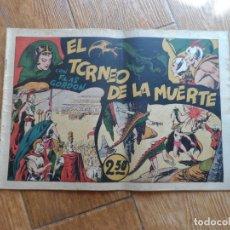 Tebeos: FLAS GORDON Nº 3 EL TORNEO DE LA MUERTE EDITA HISPANO AMERICANA ORIGINAL FLASH GORDON CON CROMOS. Lote 288374408