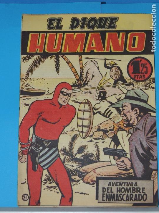 AVENTURA DEL HOMBRE ENMASCARADO .Nº21. EL DIQUE HUMANO (Tebeos y Comics - Hispano Americana - Hombre Enmascarado)