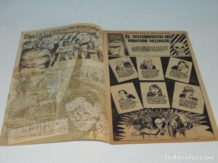 Tebeos: AVENTURA DEL HOMBRE ENMASCARADO .Nº23. EL DESCUBRIMIENTO DEL PROFESOR BELFAGOR - Foto 3 - 288555098