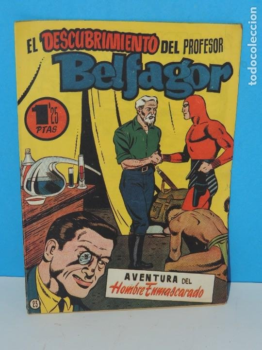 AVENTURA DEL HOMBRE ENMASCARADO .Nº23. EL DESCUBRIMIENTO DEL PROFESOR BELFAGOR (Tebeos y Comics - Hispano Americana - Hombre Enmascarado)