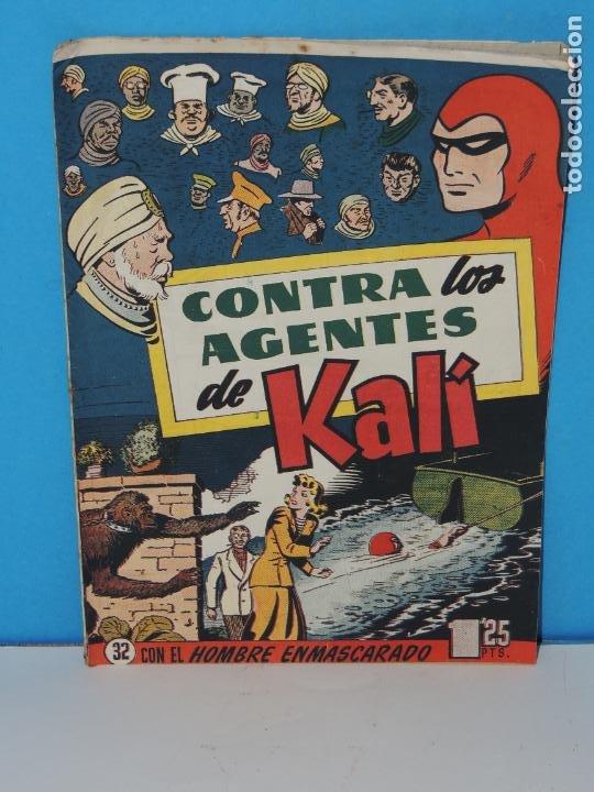 AVENTURA DEL HOMBRE ENMASCARADO .Nº 32. CONTRA LOS AGENTES DE KALÍ (Tebeos y Comics - Hispano Americana - Hombre Enmascarado)